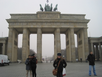 Me at the Brandenburg Gate in Berlin, Germany