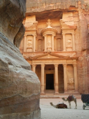 Petra, Jordan (recognize it from Indiana Jones 3?)